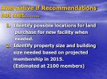 alternative if recommendations not met