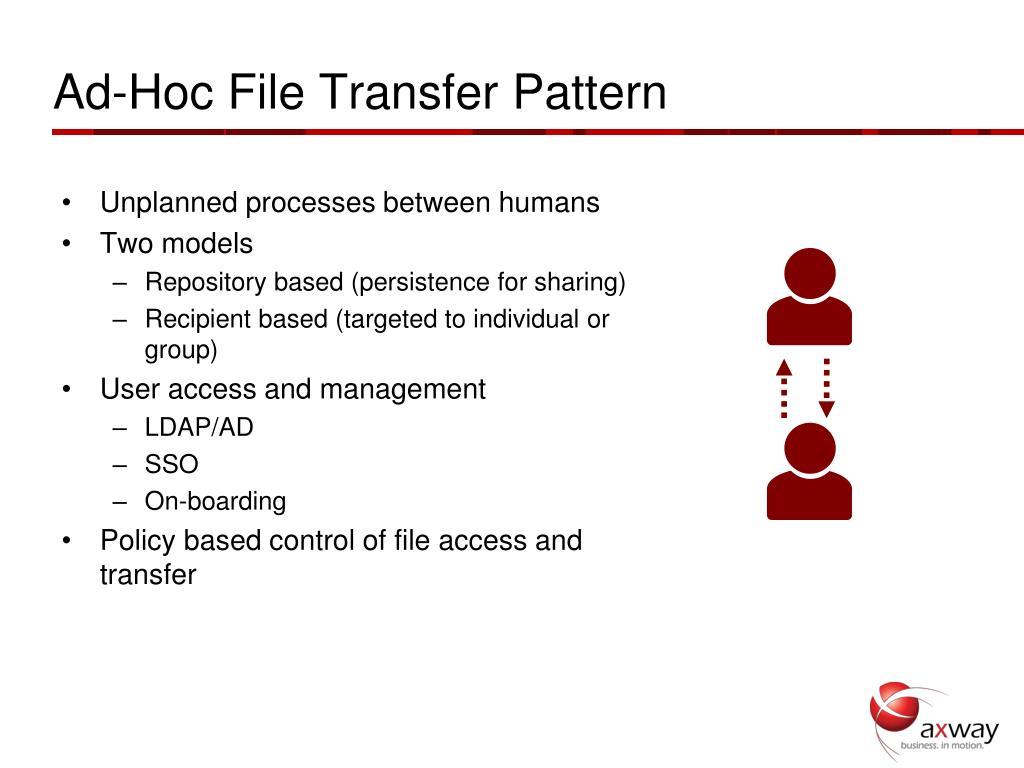 Ad-Hoc File Transfer Pattern