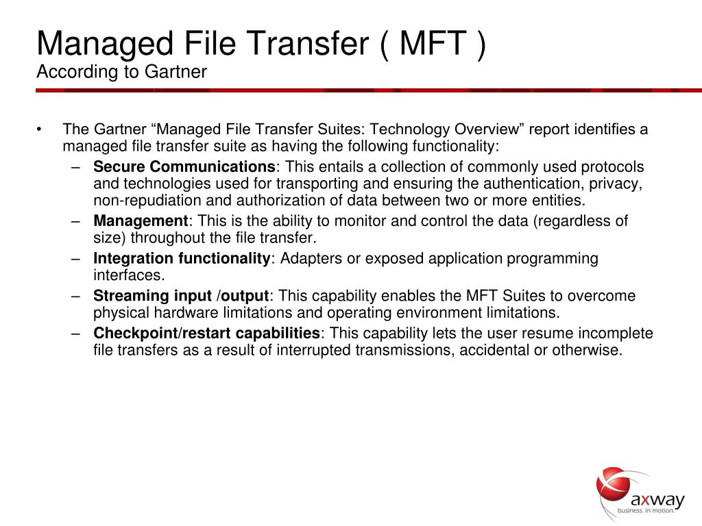 Managed File Transfer ( MFT )