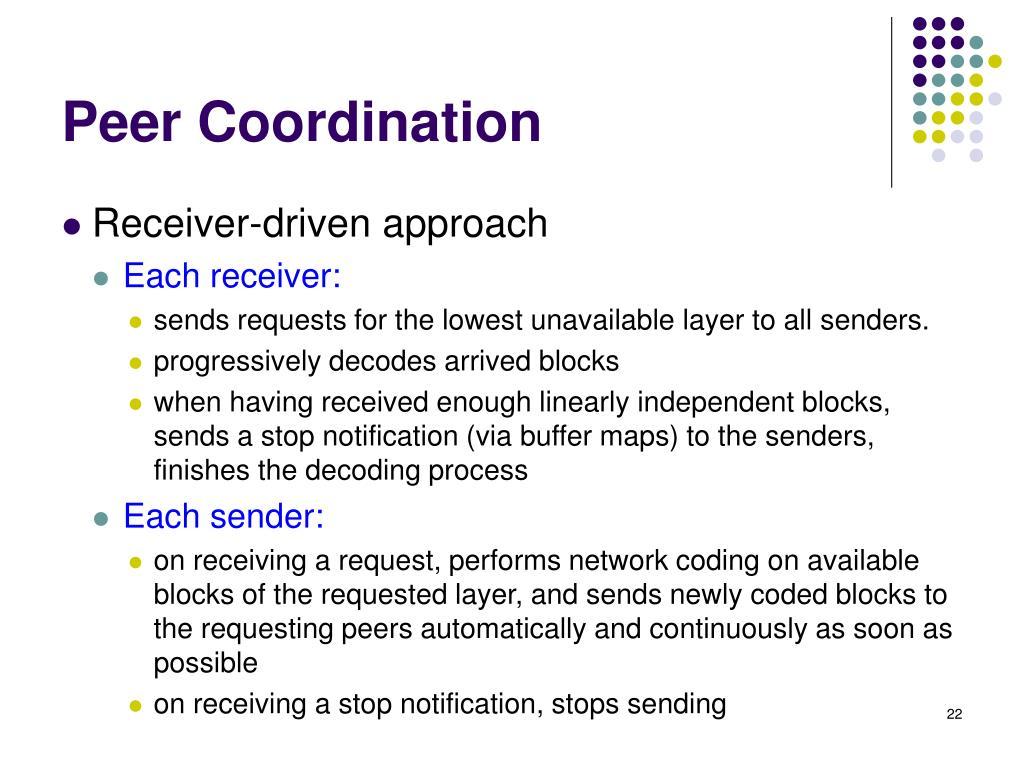 Peer Coordination