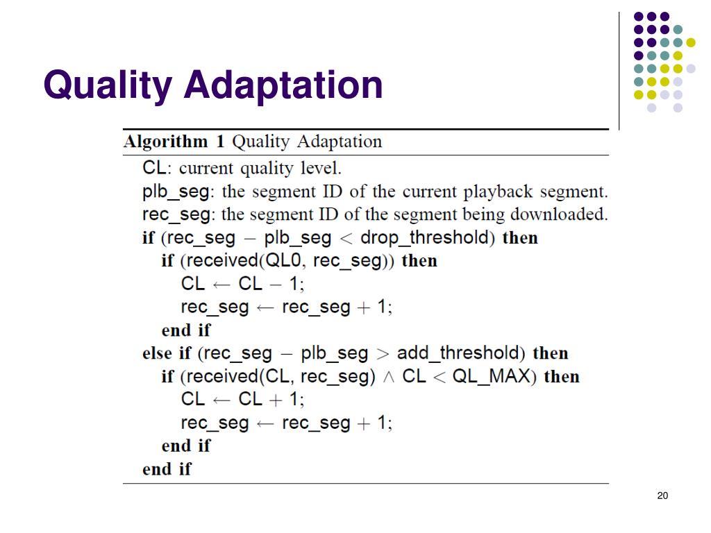 Quality Adaptation