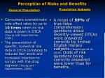 perception of risks and benefits