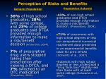 perception of risks and benefits20
