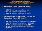 u s population subsets u s census 2006 american community survey 225 746 000 people 18 years6