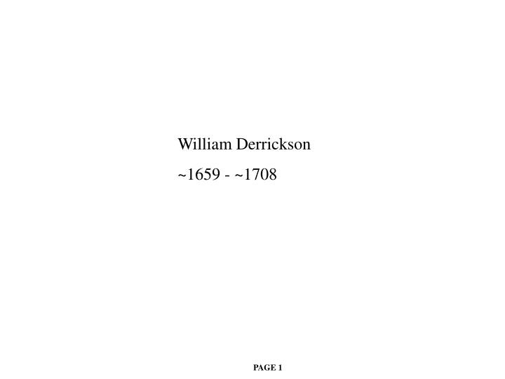 William Derrickson