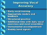 improving vocal accuracy