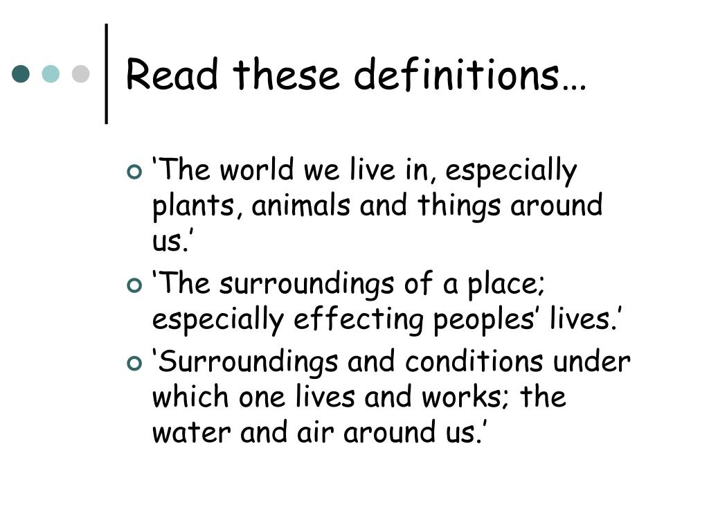 read these definitions