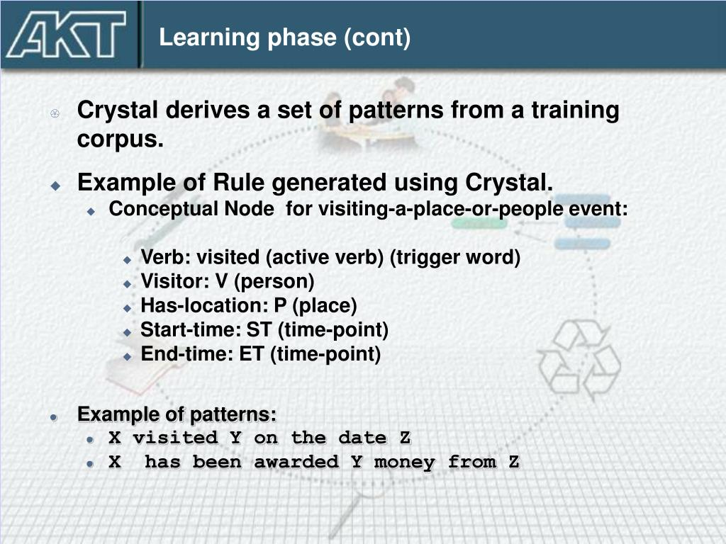 Learning phase (cont)