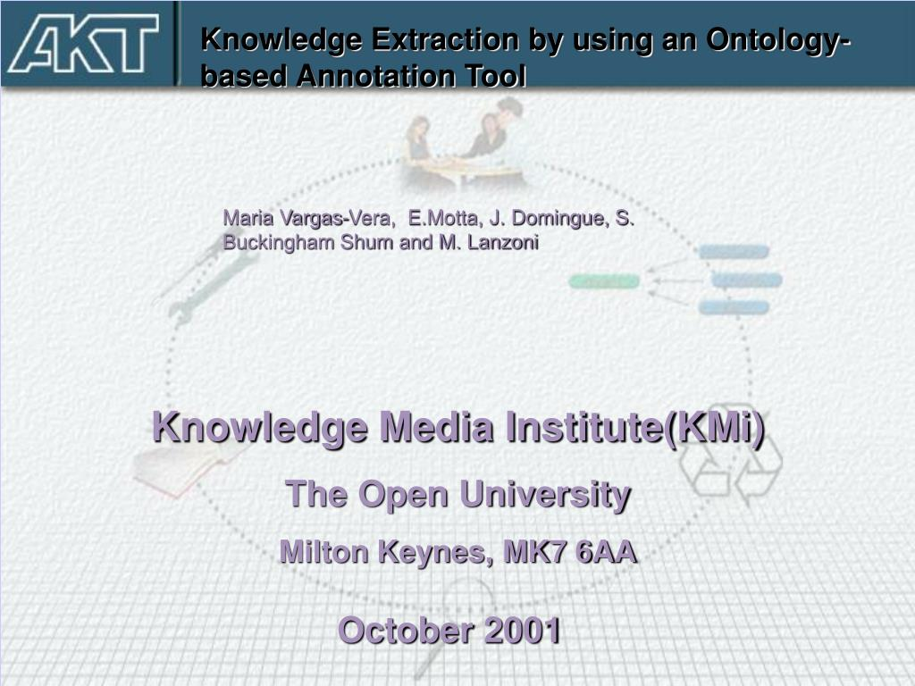 Knowledge Extraction by using an Ontology-based Annotation Tool