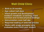 well child clinic