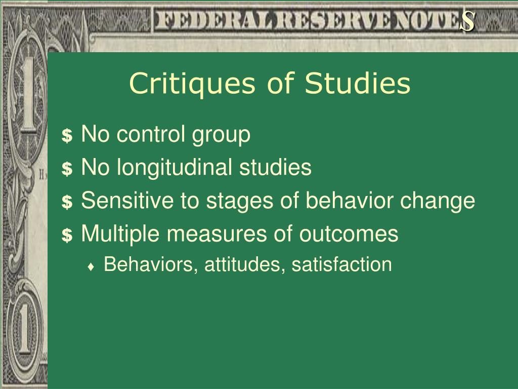 Critiques of Studies