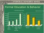 formal education behavior