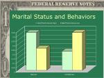 marital status and behaviors