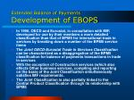 extended balance of payments development of ebops