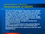 extended balance of payments development of ebops38