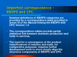 imperfect correspondence ebops and cpc