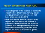 major differences with cpc