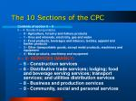 the 10 sections of the cpc