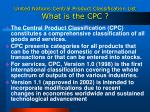 united nations central product classification list what is the cpc