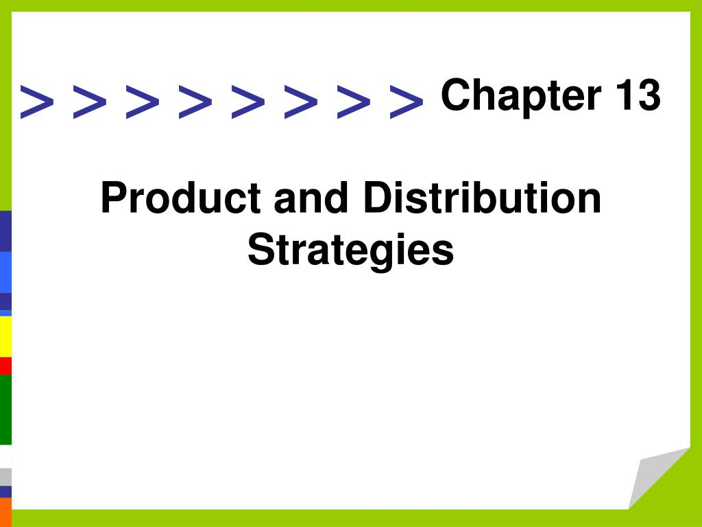 product and distribution strategies