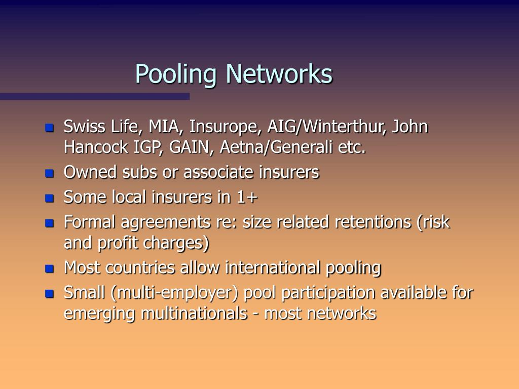 Pooling Networks