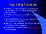 negotiating resources