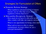 strategies for formulation of offers