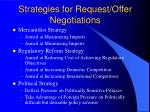 strategies for request offer negotiations