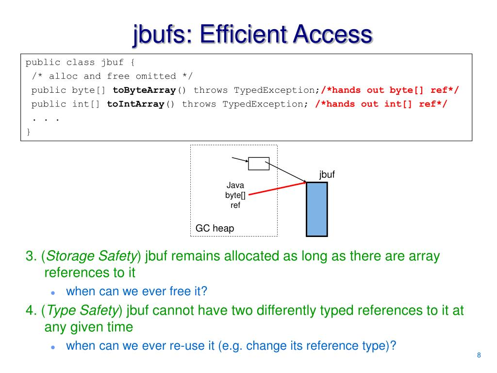 jbufs: Efficient Access