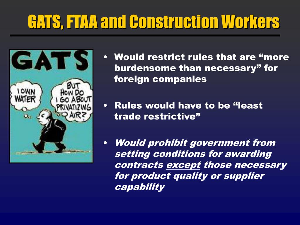 GATS, FTAA and Construction Workers