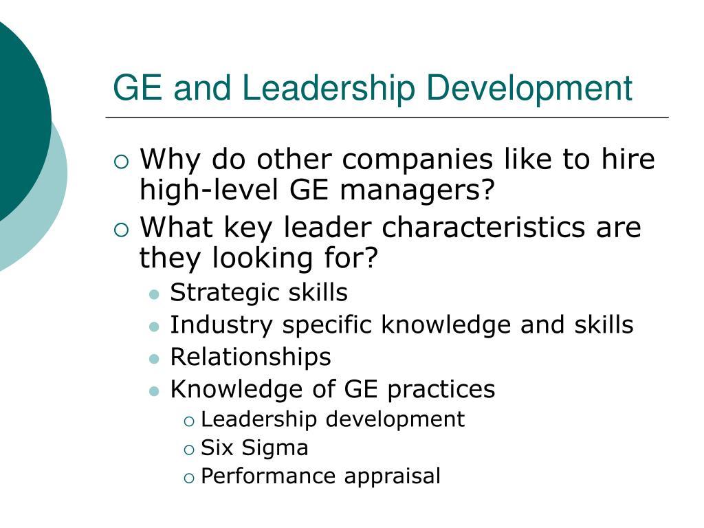 GE and Leadership Development