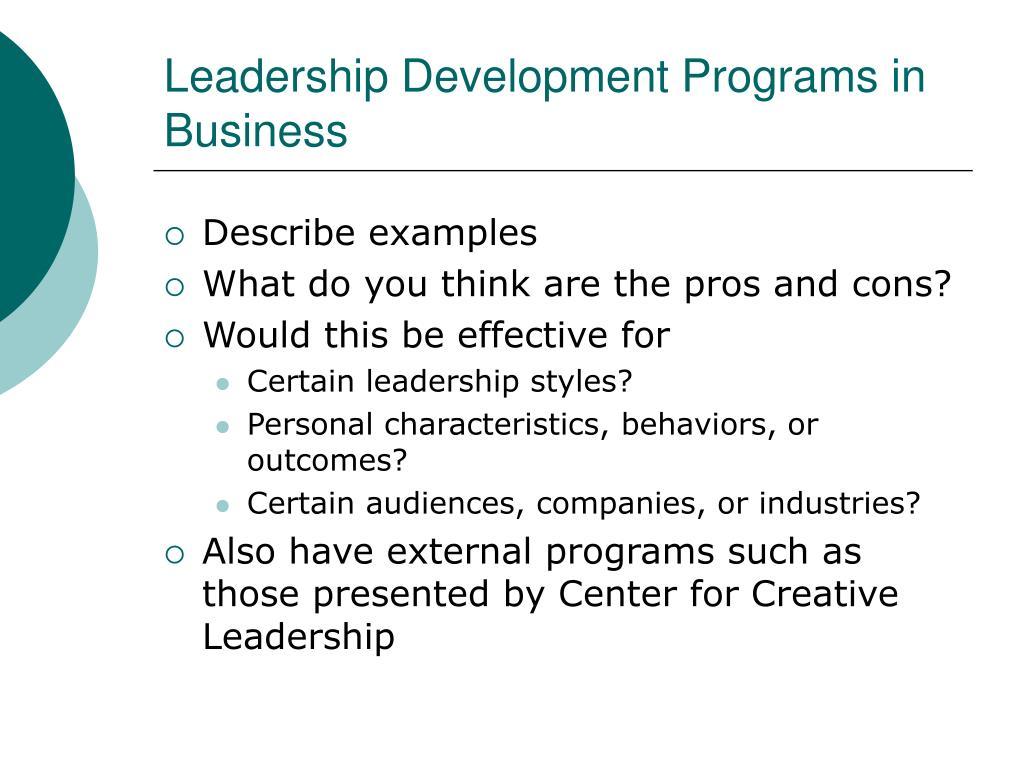 Leadership Development Programs in Business