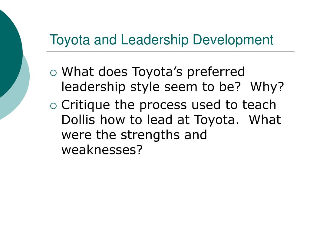 Toyota and Leadership Development