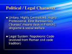 political legal character