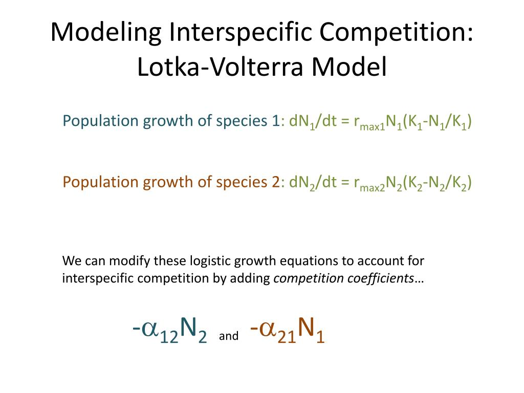 Modeling Interspecific Competition: Lotka-Volterra Model