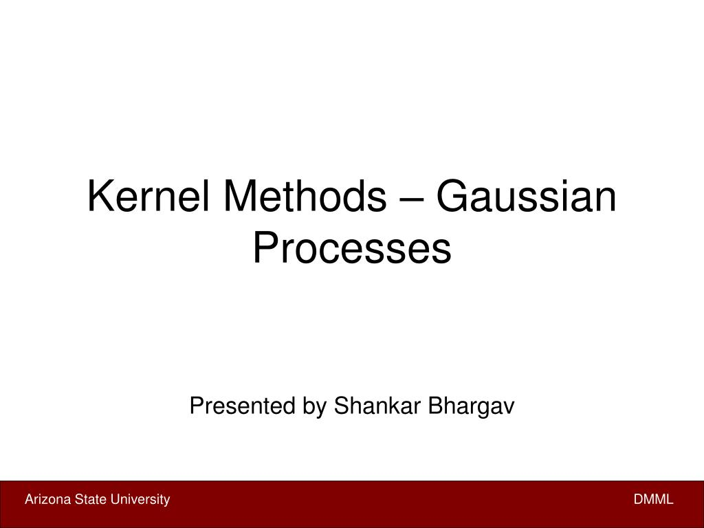 kernel methods gaussian processes