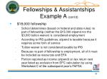 fellowships assistantships example a cont d