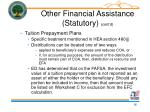 other financial assistance statutory cont d16