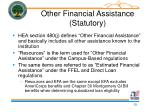 other financial assistance statutory