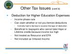 other tax issues cont d