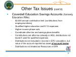 other tax issues cont d31