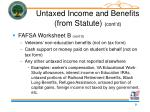 untaxed income and benefits from statute cont d9