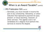 when is an award taxable cont d39