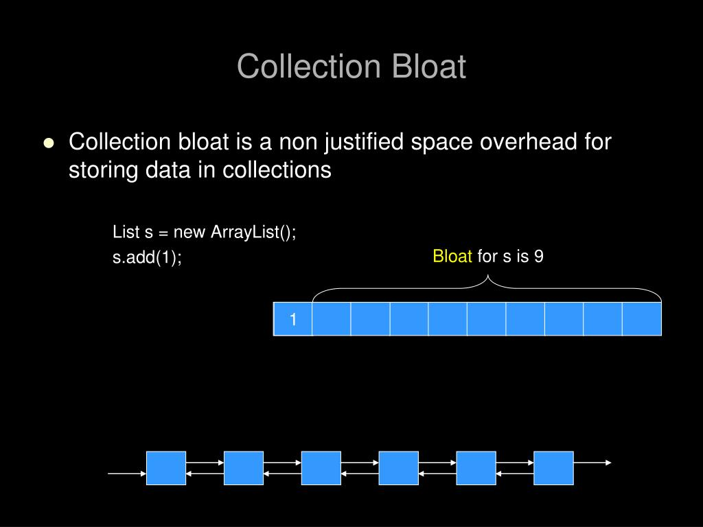 Collection Bloat
