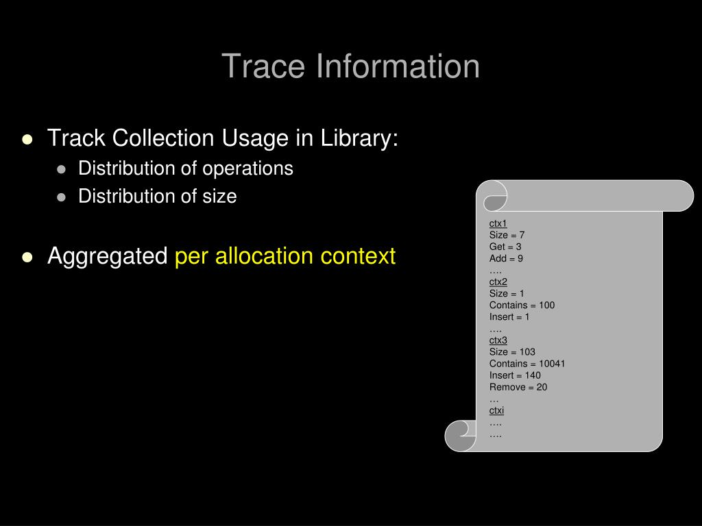Trace Information