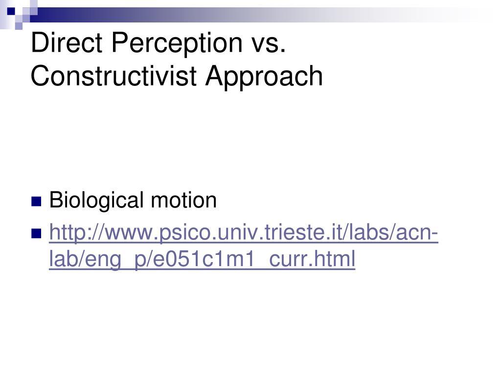 Direct Perception vs.
