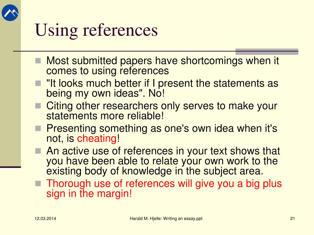 show references term paper