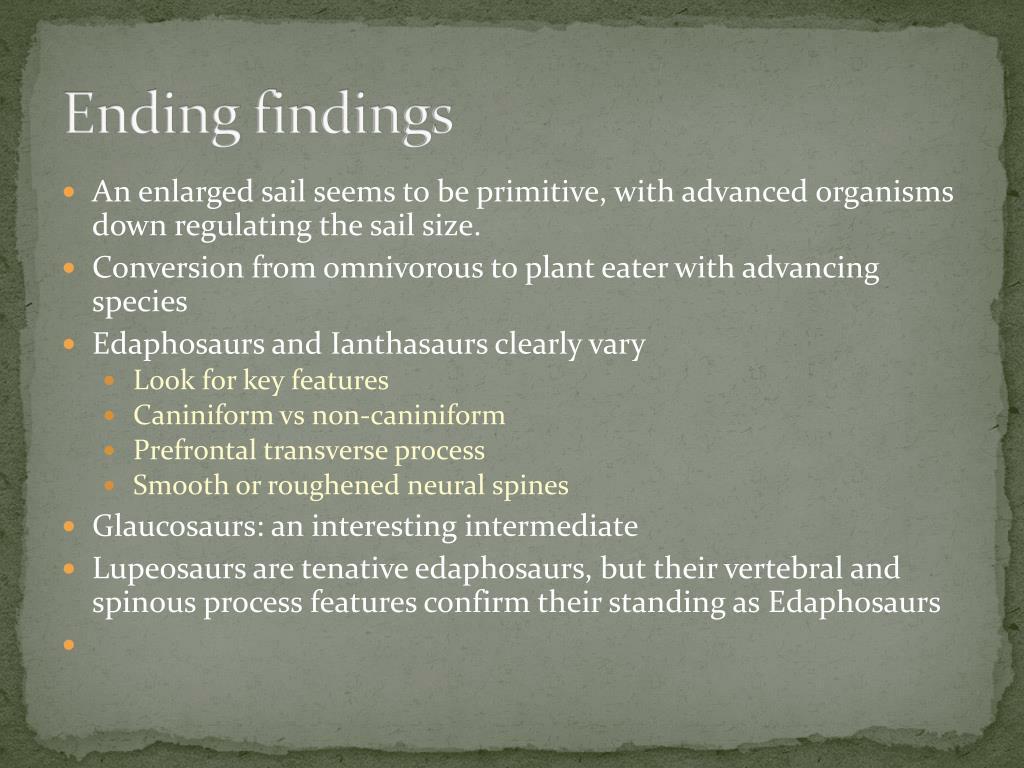 Ending findings