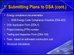 1 submitting plans to dsa cont