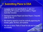 1 submitting plans to dsa